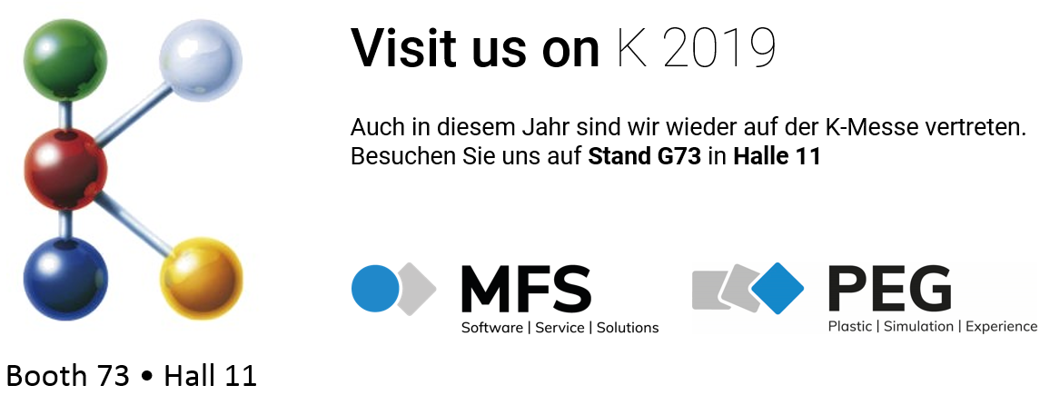 K Trade Fair 2019 Booth G73 Hall 11 PEG MF Software